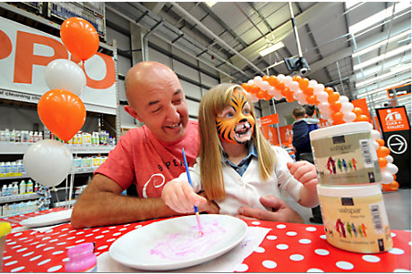 Community activity in B&Q store