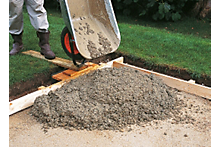 How to plan a concrete path, patio or driveway