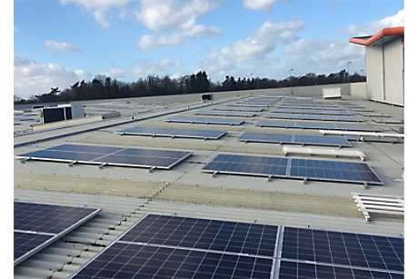 Photovoltaic panels at B&Q Cribbs Causeway