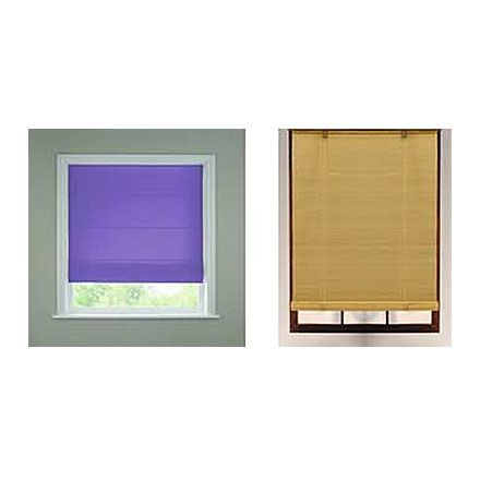 Bamboo and roman blinds image