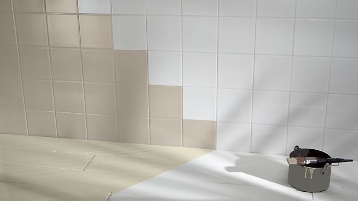 How to paint wall tiles