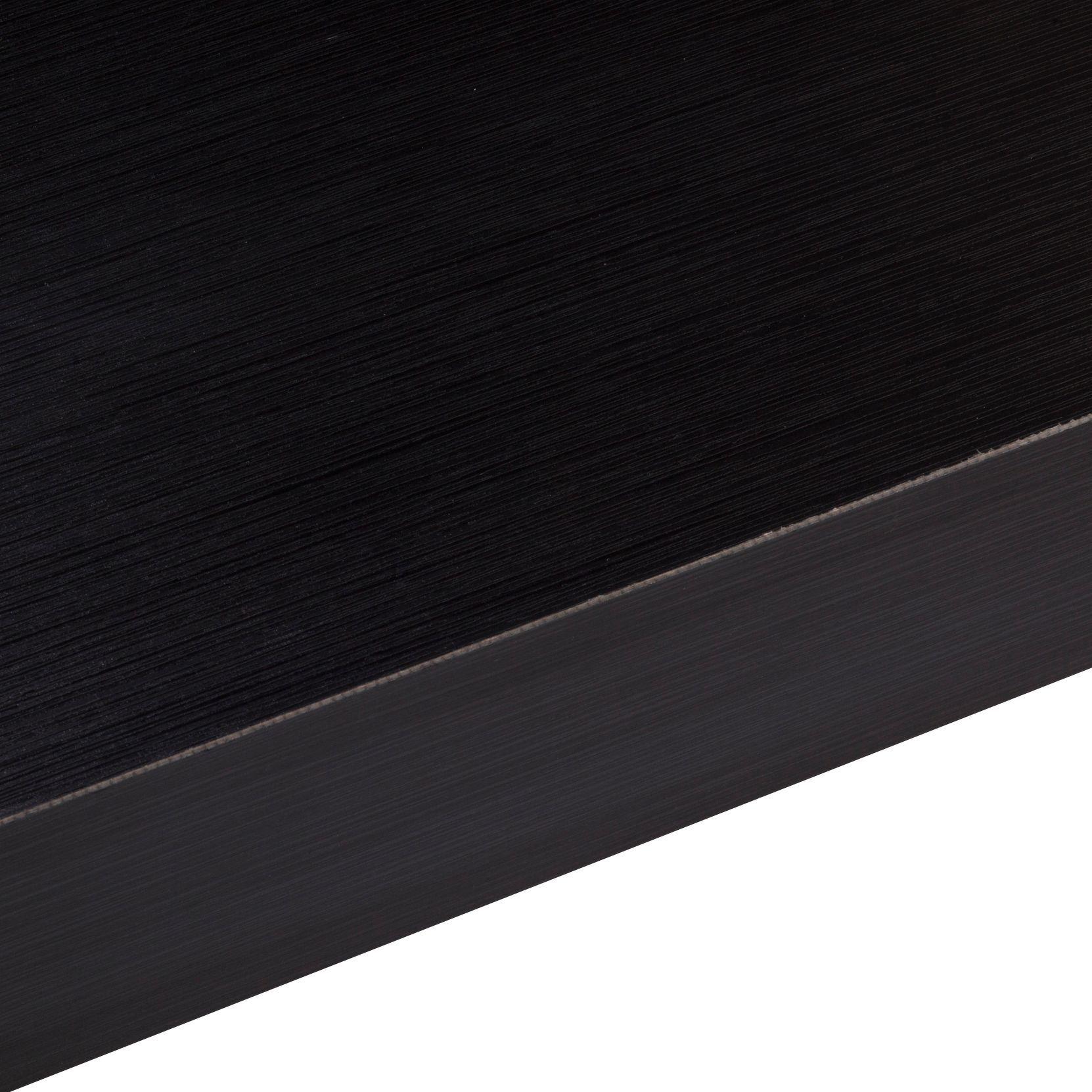 50mm Designer Black Square Edge Laminate Worktop L 3m D