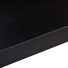 50mm Designer Black Square edge Laminate Worktop (L)3m