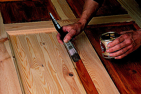 How To Paint Varnish Stain A Door