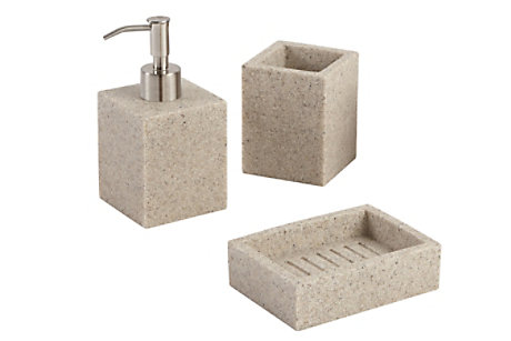 Dvina Sand Effect Bathroom Accessories