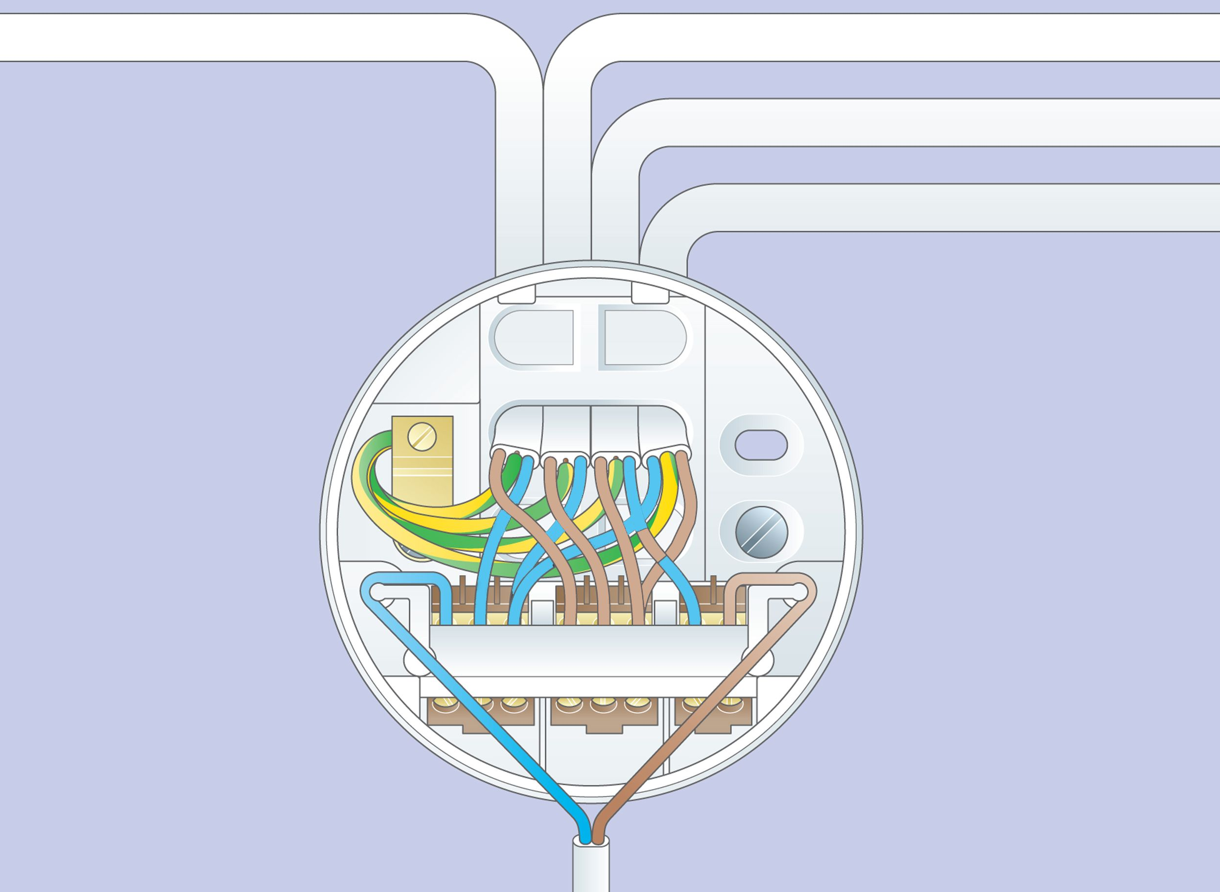 how to wire downlights diagram wiring library rh 76 bloxhuette de Under Cabinet Junction Box Cat5 Junction Box