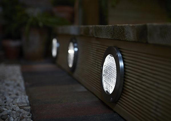 Outdoor lighting garden lighting solar lights diy at bq decking lights audiocablefo Light database