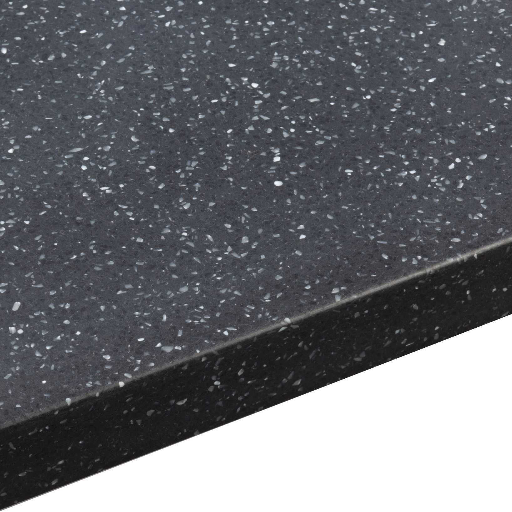 34mm Black Star Earthstone Round Edge Worktop L 3000mm D