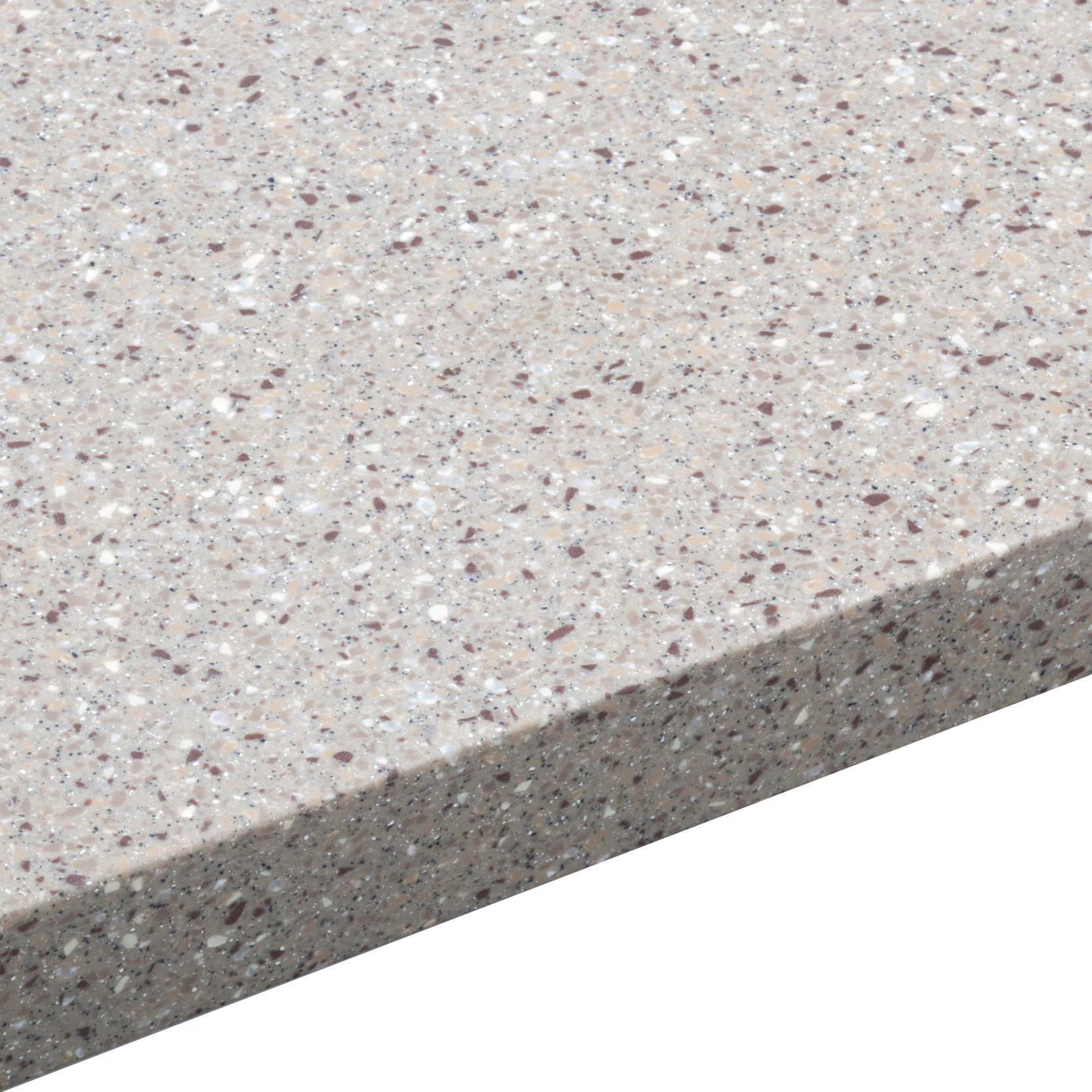 34mm Coffee Earthstone Round Edge Worktop With Sink