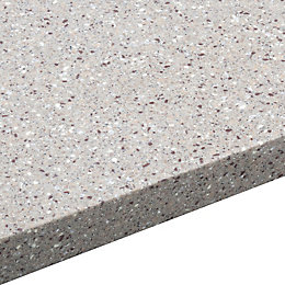 34mm Coffee Earthstone Round Edge Breakfront Worktop (L)3000mm