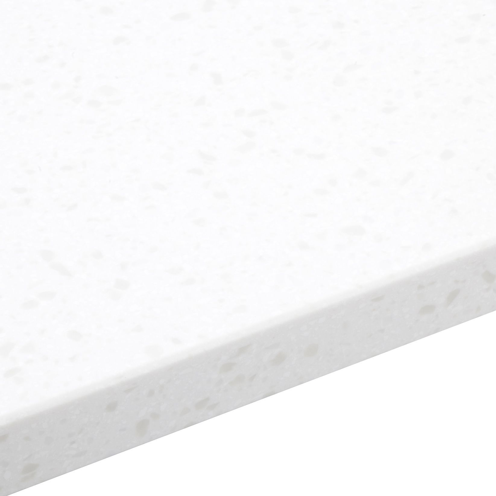 34mm Gemini White Stone effect Bevel edge Earthstone