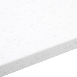 34mm Gemini White Stone effect Bevel edge Earthstone