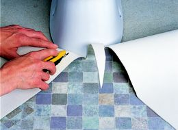 How To Lay Sheet Vinyl Ideas Amp Advice Diy At B Amp Q