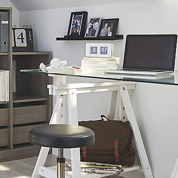 Perkin Modular Storage Furniture in Grey Oak used in home office