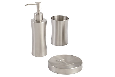 Fulda Brushed Metal Bathroom Accessories