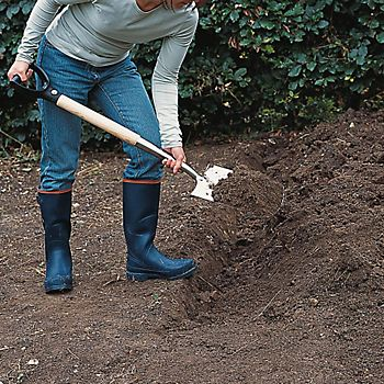 Digging over bare ground