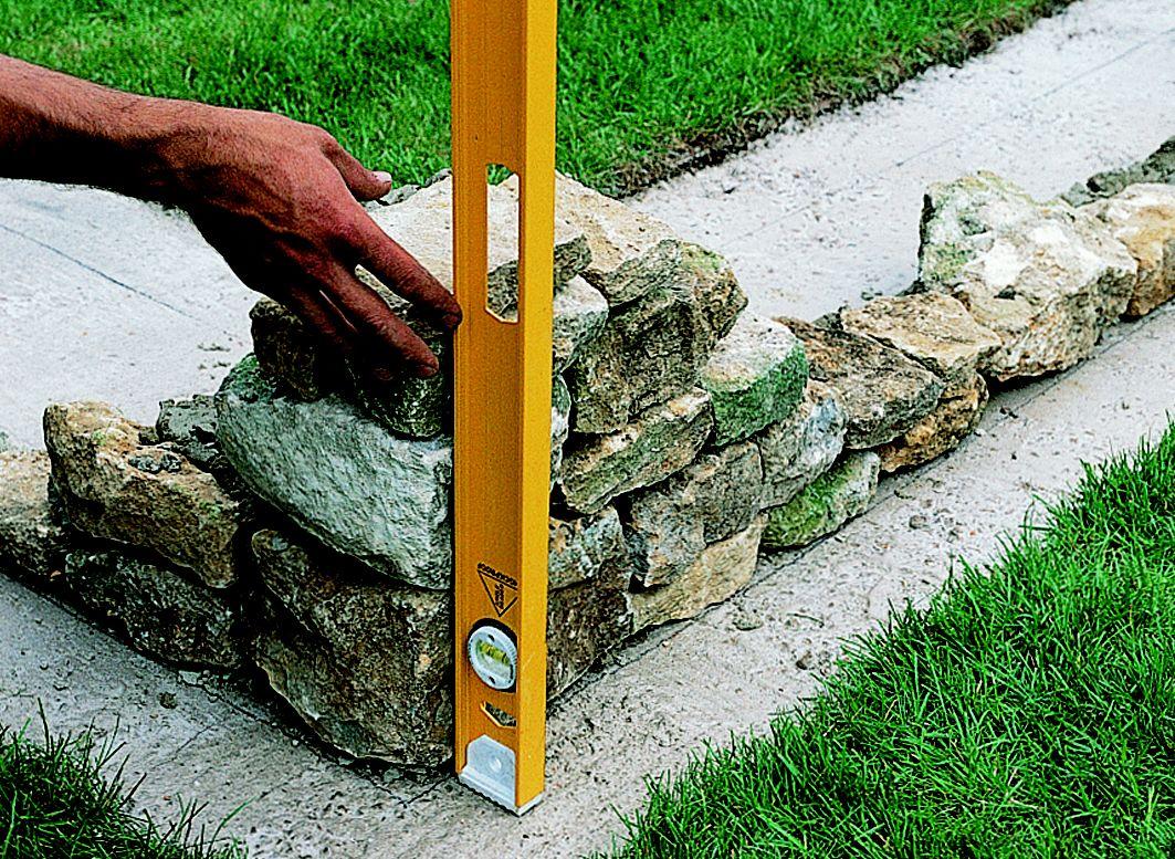 How To Build A Stone Garden Wall Ideas Amp Advice Diy At B Amp Q