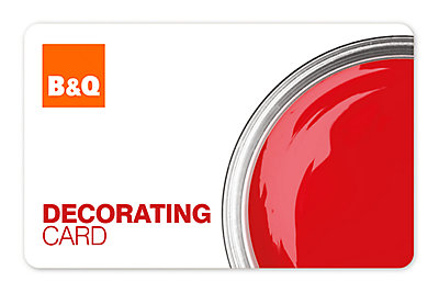 B&Q Decorating Card