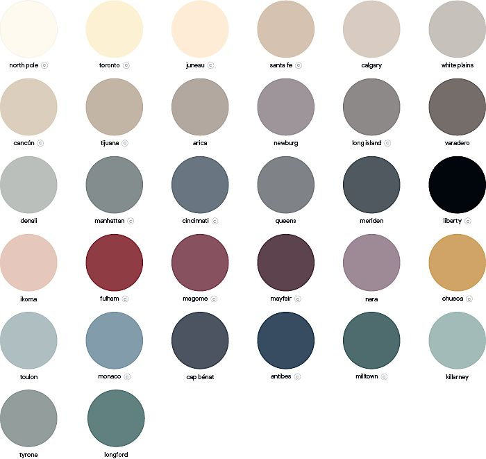 GoodHome furniture paint colour palette