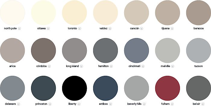 GoodHome multi-surface durable paint colour palette