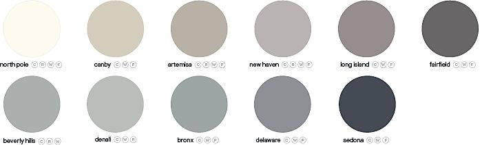 GoodHome specific project paint colour palette