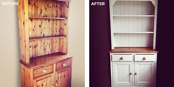 Upcycled dresser using furniture paint