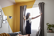 How to put up curtains & blinds