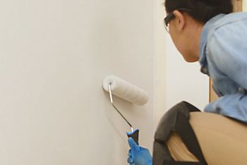 How to paint a wall two colours