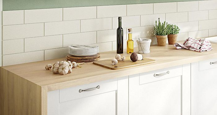38mm arlington oak laminate soft grain wood effect square edge worktop l 3000mm d 600mm - Kitchen backboards ...