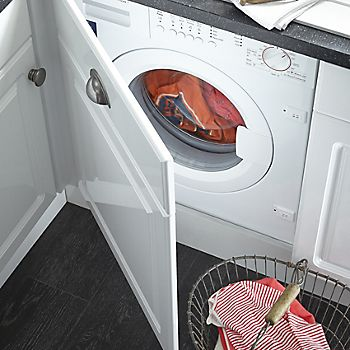 laundry in tumble dryer