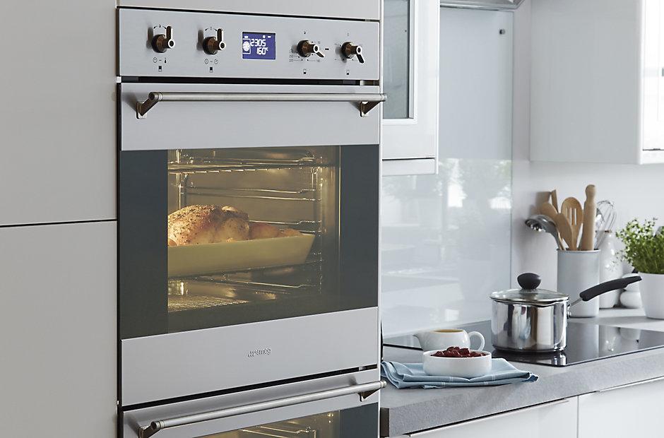 It Santini Gloss White Slab Fitted Kitchens Diy At B Q