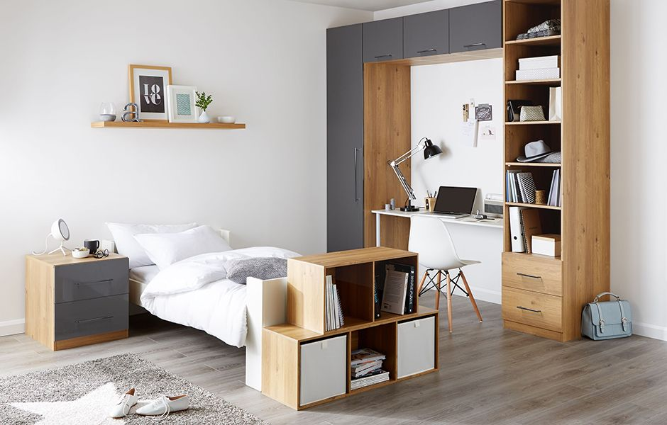 Darwin furniture range in oak and anthracite