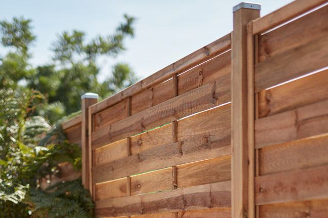 thumbnail: Wood panel fencing