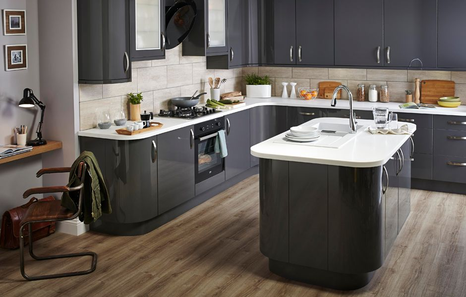 Get the look: Santini Anthracite kitchen