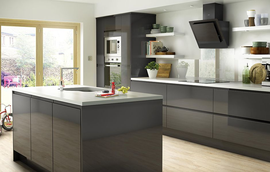 Kitchen Design Pictures And Ideas IT Marletti White Gloss with Integrated Handle