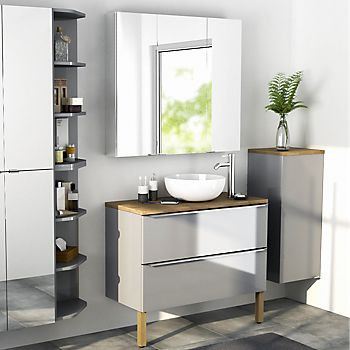 Imandra grey bathroom cabinets