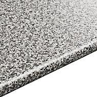 28mm Inari Grey Granite effect Round edge Laminate Worktop (L)3.05m (D)600mm