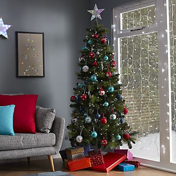 Artificial Christmas Tree decorated with Jolly Festive decorations