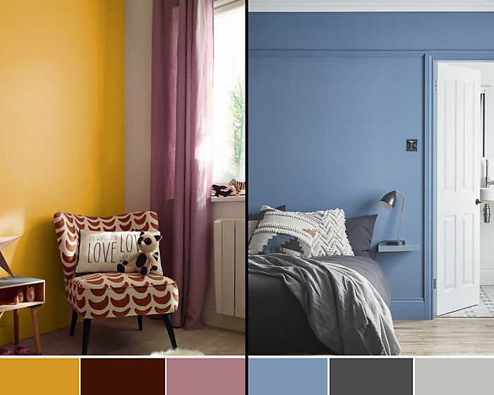 Warm and cool colour schemes