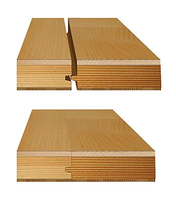 Diagram showing how tongue and groove flooring fits together