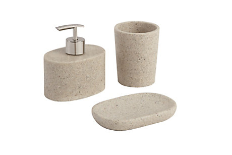 Jubba Light Stone Effect Bathroom Accessories