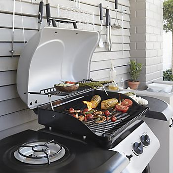 Barbecue with outdoor kitchen