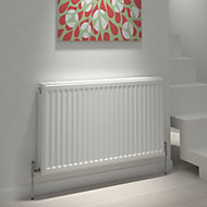Kudox Type 22 double Panel radiator White, (H)600mm (W)800mm