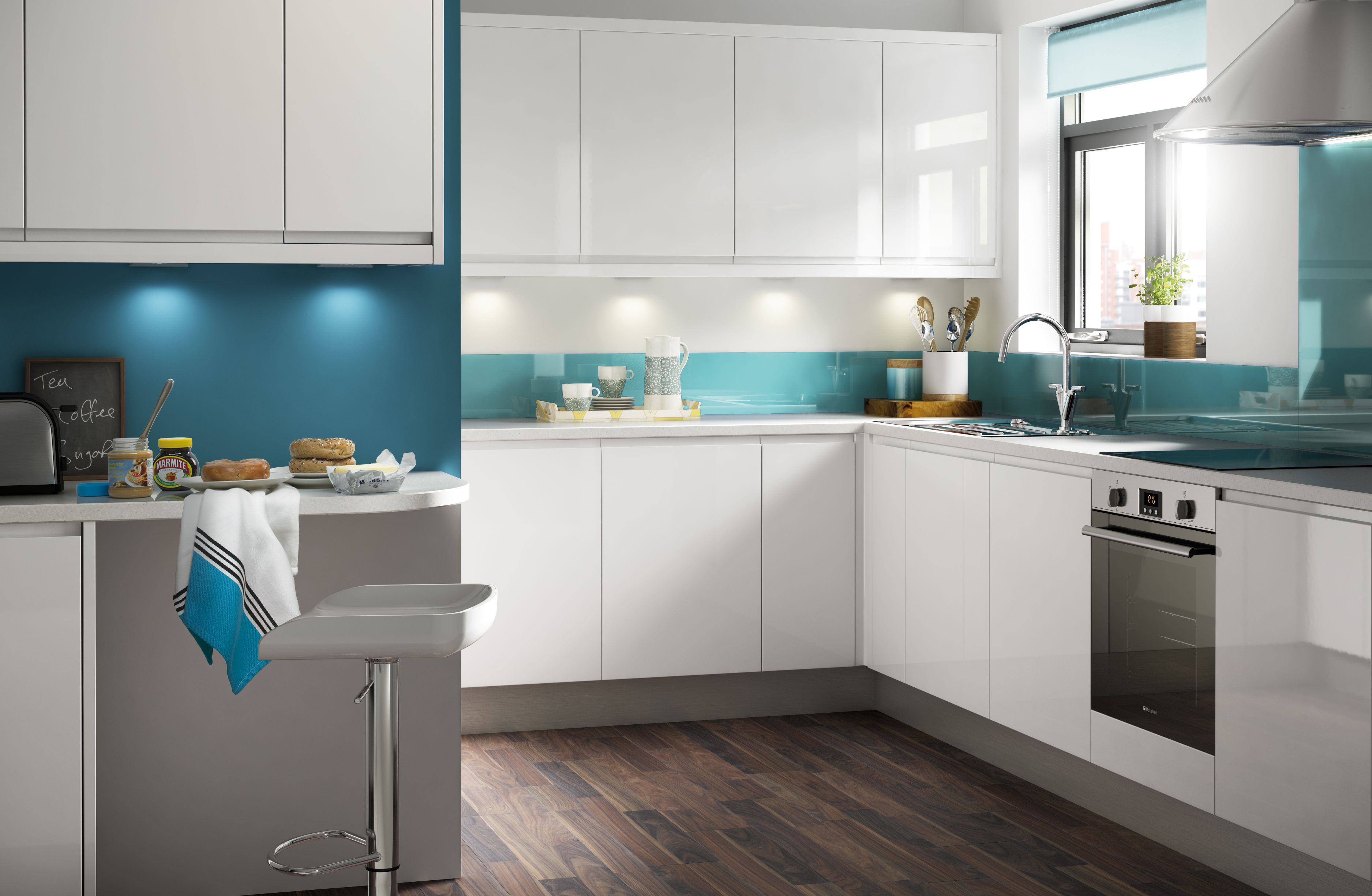 Popular IT Marletti White Gloss with Integrated Handle Beautiful - Latest countertop ideas for white cabinets In 2019