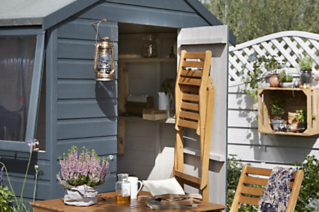 how to paint a wooden shed or fence