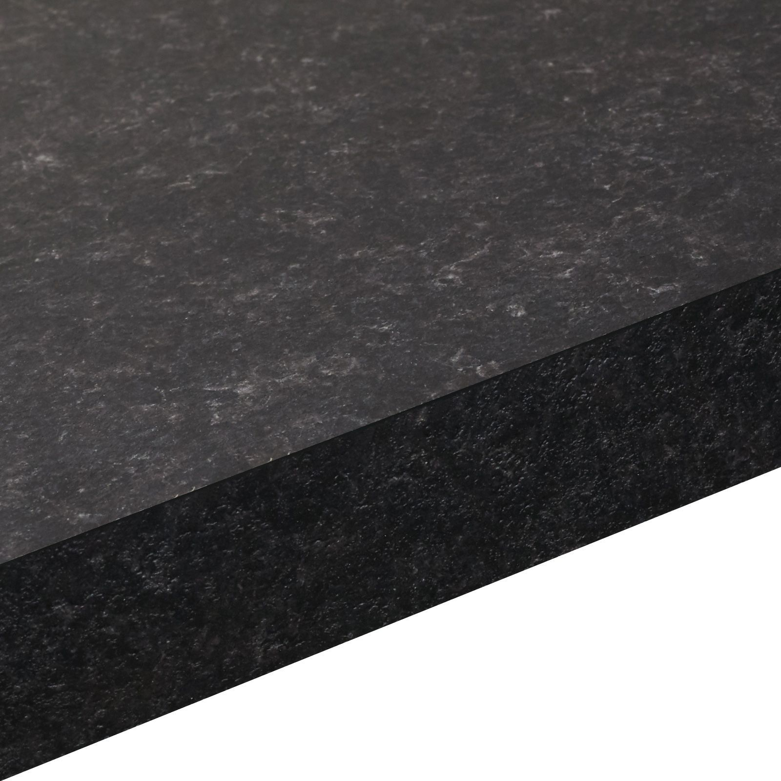 38mm Lima Black Matt Granite effect Square edge
