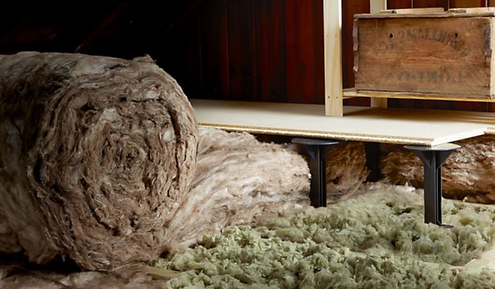 """two layers of insulation on loft floor"""