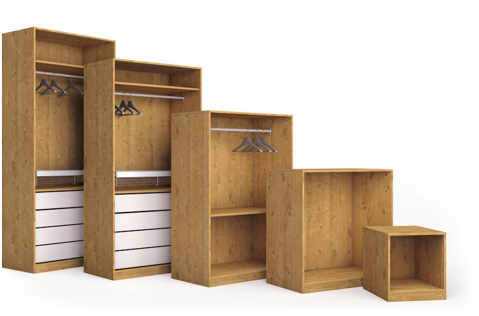 Drawers shelves partitions step 2 bespoke storage diy at b q Build your own bedroom wardrobes