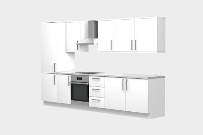 8 unit, gallery kitchen