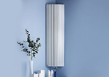 white steel radiator